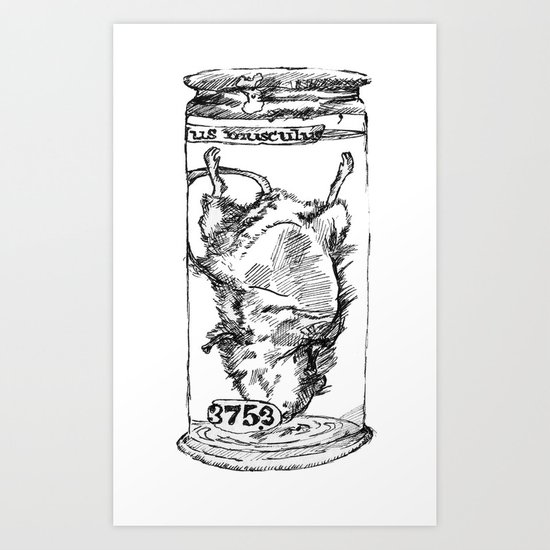 Mouse in a Jar Art Print