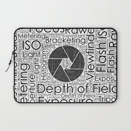 Photography Terms  Word Cloud Lens Shutter Laptop Sleeve