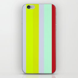 Striped Color BROWN BLUE GREEN iPhone Skin
