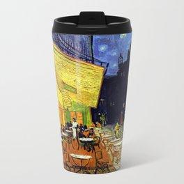 Cafe Terrace at Night Metal Travel Mug