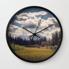Mountain Watershed Wall Clock