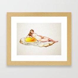 Egg is life Framed Art Print
