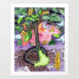 Hi(gh)biscus Magic Art Print