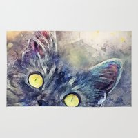 kitty Area & Throw Rugs featuring Kitty by jbjart