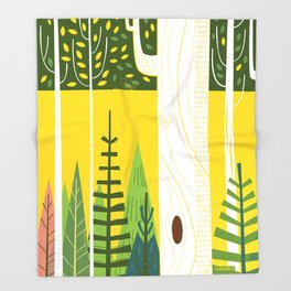 Joyful Trees Throw Blanket