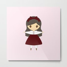 Classic Lolita-chan Metal Print