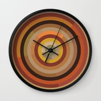 mod Wall Clocks featuring Mod  by Lori Wemple
