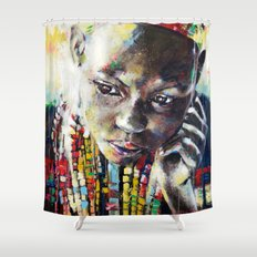 Reverie - Ethnic African portrait Shower Curtain