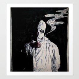 Like a Hazmat, With a Gas Mask Art Print