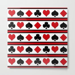 Four card suits Metal Print