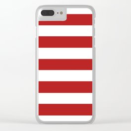 Carnelian - solid color - white stripes pattern Clear iPhone Case