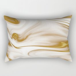 Gold Milky Swirl Marble Rectangular Pillow