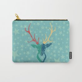 Colorful Stag (Red, Yellow, Green, Blue) Carry-All Pouch