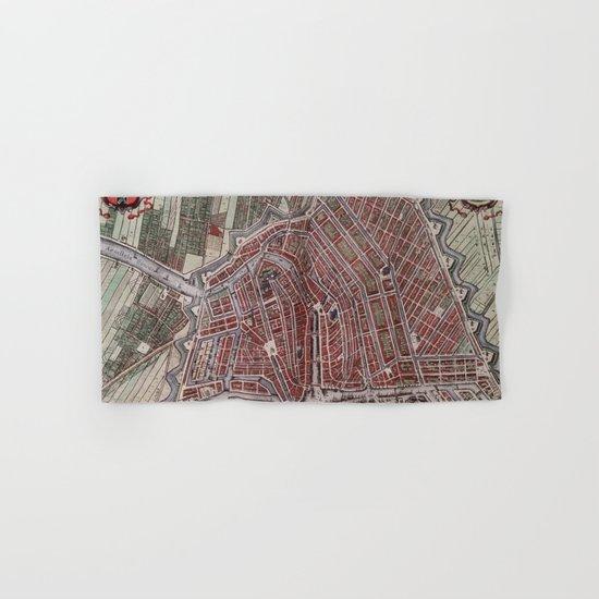 Replica city map of Amsterdam 1652 Hand & Bath Towel