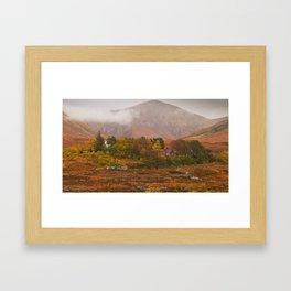 Autumn colors at Sligachan Scotland Framed Art Print