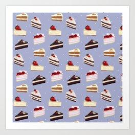 Cake Collage Art Print