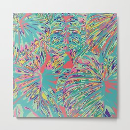 The jungle looked back with a vastness Metal Print
