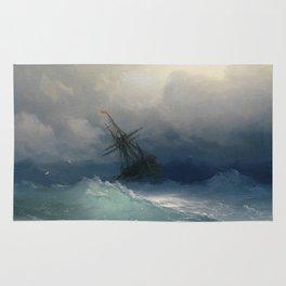 Ivan Ayvazovsky - Ship On Stormy Seas Rug