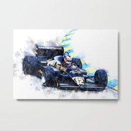 Nigel Mansell, JPS Metal Print