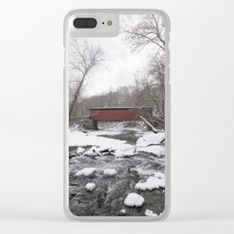 Thomas Mills Covered Bridge, Philadelphia Clear iPhone Case