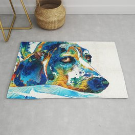 Colorful Beagle Dog Art By Sharon Cummings Rug