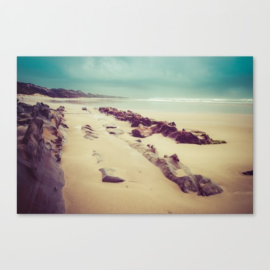 Blue Ocean Path Canvas Print