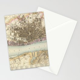 Vintage Map of Liverpool England (1872) Stationery Cards