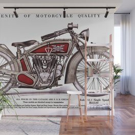1914 Excelsior Henderson Motorcycle Catalog Advertisement Print Wall Mural