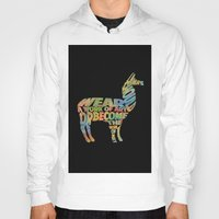 lama Hoodies featuring Lama by Julie Luke