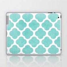 teal clover Laptop & iPad Skin