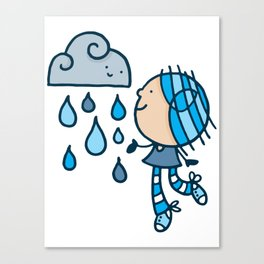 Rain Cloud Girl Canvas Print