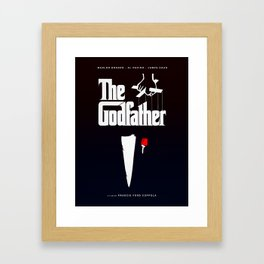 The Godfather, 1972 (Minimalist Movie Poster) Framed Art Print