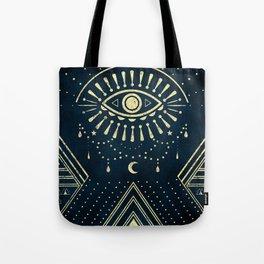 Eye Midnight Gold Tote Bag