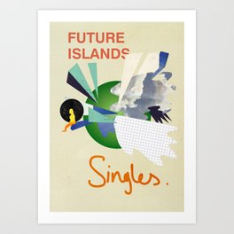 Future Islands - Singles  Art Print