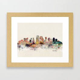 new orleans skyline Framed Art Print