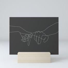 Grey Pinky Swear Mini Art Print