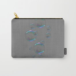 IRIDESCENT SOAP BUBBLES GREY COLOR DESIGN Carry-All Pouch