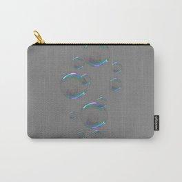 IRIDESCENT SOAP BUBBLES GREY COLOR DESIGN Carry-All Pouch