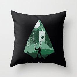 Arrow green Throw Pillow