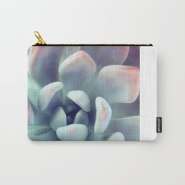 Mint Green Succulent Carry-All Pouch