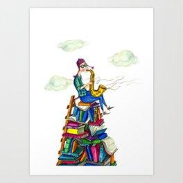 Jazzy books Art Print