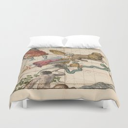 Ignace-Gaston Pardies - Globi coelestis Plate 4: Virgo, Hydra and other constellations 1693 Duvet Cover