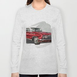 Red Old fashion Car Long Sleeve T-shirt
