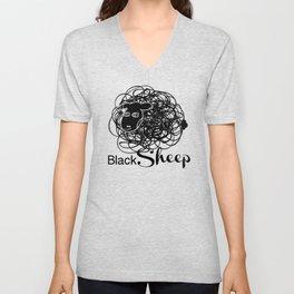 Black Sheep w/blk face Unisex V-Neck