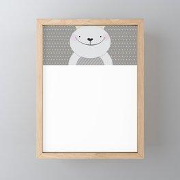 Cute Rabbit Framed Mini Art Print
