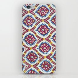 Floral Fabric Vintage Material iPhone Skin