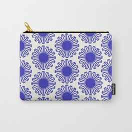 vintage flowers blue  Carry-All Pouch