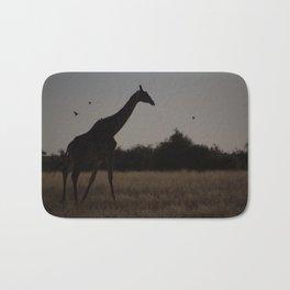 Giraffe Silhouette Bath Mat