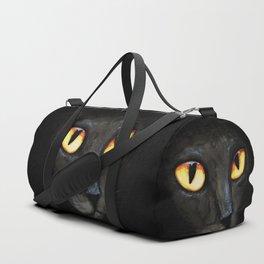 Black cat's eyes Duffle Bag