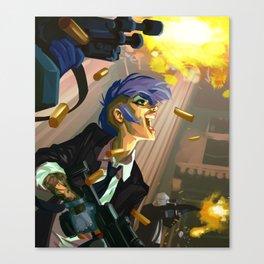 Bank Robbery Canvas Print